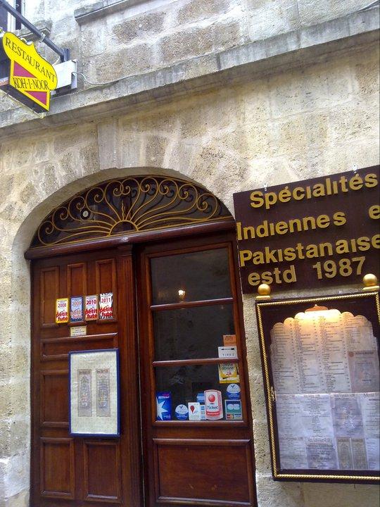 Restaurant Koh I Noor BORDEAUX